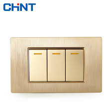 Brushed Steel Light Switches And Sockets Us 5 95 12 Off Chint Electric 118 Type Switch Socket New5d Brushed Gold Embedded Steel Frame Three Gang Two Way Switch In Switches From Lights