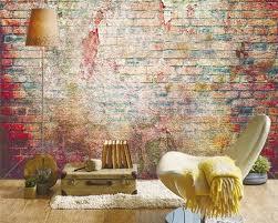 brick wall graffiti art wallpaper 3d