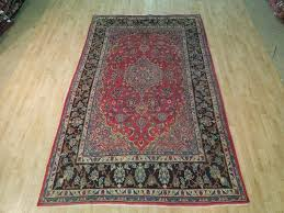 details about red dark navy persian rug 7 x 10 oriental isfahan dense pile hand knotted rugs