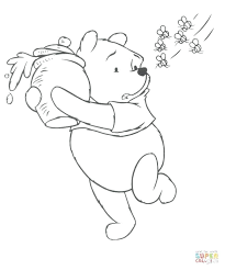 Bee Color Page Click The Pooh And Bees Coloring Pages Bumblebee