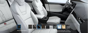 ultra white premium seats in model s