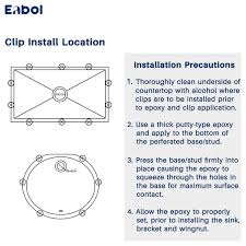 Enbol Si 001 Kitchen Sink Clips Fasteners For Undermount Kitchen