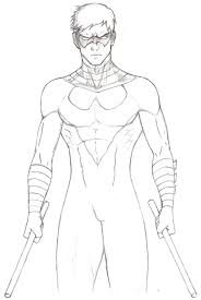 perfect nightwing coloring pages colouring in pretty printable for kids photo 731 1092 young justice
