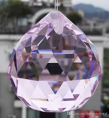 aaa quality 50mm k9 pink colour crystal faceted ball spheres chandelier replacement garland pendants pink crystal crystal faceted crystal