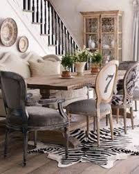 mixed dining furniture at horchow i love this idea especially adding the couch in the mix