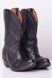 black leather cowboy boots 7f 1