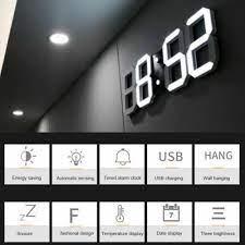 led wall clock alarm clock snooze