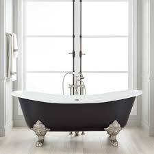 clawfoot tub bathroom black claw foot bath second hand cast iron tubs for l double