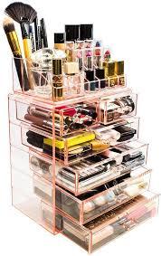 sorbus makeup storage organizer set 2 pink