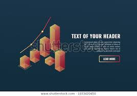 Cool Banner Charts Data Visualization Concept Stock Vector