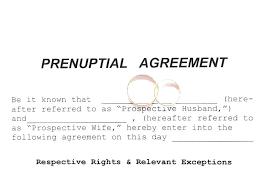 Sample Prenup Prenup Agreement Template