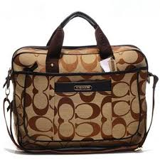 Coach In Monogram Large Khaki Business bags DHH,Cheap Coach,Coach Outlet