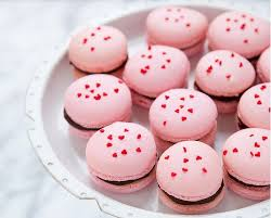 Valentines Baked Goods Cherry Chocolate Macarons