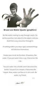Bruce Lee Water Quote Amazing Bruce Lee Water Quote Graphics The World Of Positive Energy