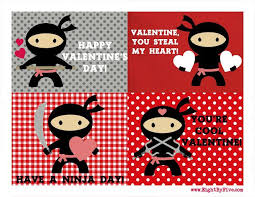 Valentines Day Cards For Boys Printable Ninja Valentines And More Happiness Is Homemade