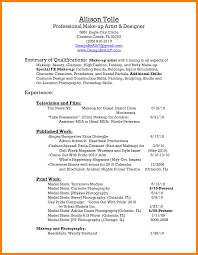 Best Solutions Of 8 Makeup Artist Resume Example Nice Resume For