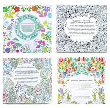 4 design 24 pages inky coloring drawing books secret garden enchanted forest fantasy dream children