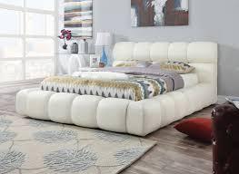Acacia 25050 White Queen Platform Bed Frame
