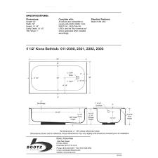 bathtub design size of standard designs
