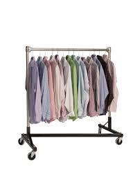 quality fabricators heavy duty garment z rack single rail 4 base x 4 uprights