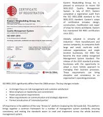 Eastern Shipbuilding Renews Iso 9001 2015 Quality Management