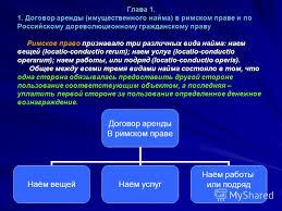 Презентация на тему Понятие договора аренды Введение Данная  3 Глава Договор