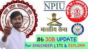 job update n army n railway npiu more for   6 job update n army n railway npiu more for engineers iti candidate diploma