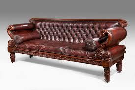 Leather Regency Antique Sofa QWVBPNQ N86
