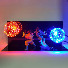 Dragon Ball Vegeta Goku Kamehameha Lamp Led Lighting Dragon Ball Z