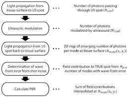 Ultrasound Intensity Chart Flow Chart Of Simulation Procedure 2d Photon Flux Map