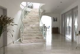 Natural Stone Ideas_Palissandro Marble Stairway modern-staircase