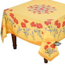 round cotton table cloth square poppies yellow coated cotton tablecloth by cotton tablecloths australia
