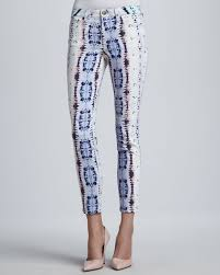 Super Chic Neon Snake Skinny Ankle Jeans