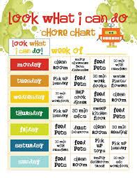 Chore Chart Google Images Preschool Chore Charts