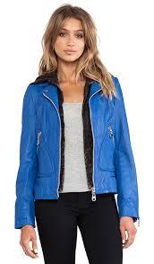 washed lamb leather jacket with detachable hood doma