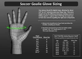Goalkeeper Glove Size Chart Soccer Goalie Glove Size Chart Images Gloves And