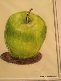 green apple fruit drawing. image is loading colored-pencil-drawing-green-apple-still-life-fruit- green apple fruit drawing