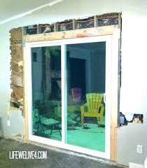 replacing sliding doors installing a sliding door laudable sliding doors installation patio door installation cost cost