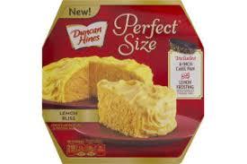 Duncan Hines Perfect Size Lemon Cake Frosting Mix Lemon Bliss