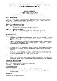 Outline For Resume For A Job 003 Part Time Job Resume Template Examples Work Student