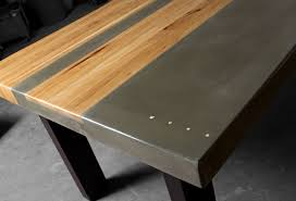 Metal And Wood Kitchen Table Concrete Wood Steel Dining Kitchen Table