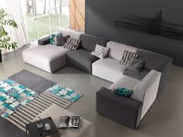 Wonderful Unique Convertible Sectional Sofa Bed With Painting Living