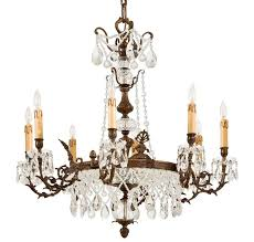 chandelier for bedroom 6 light pendant with chocolate chrome finish perforated steel shade with teak crystals clear crystal antique white glass gold
