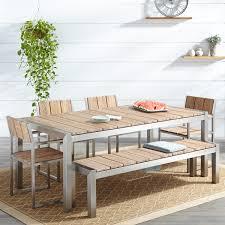 whitewash outdoor furniture. Macon 6-Piece Rectangular Teak Outdoor Dining Table Set - Whitewash Furniture R