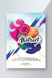 Flyer Poster Templates Gradient Style Flyer Templates Poster Template Psd Free