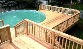 A Above Ground Pool Decks Round Plans Deck