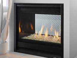 double sided gas fireplace 36 inches see through black grey color see through gas fireplace c32