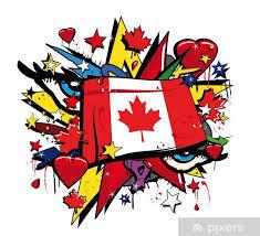canada flag graffiti canadian love pop