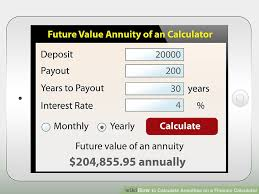 image led calculate annuities on a finance calculator step 4
