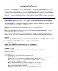 Nursing Student Resume Sample Gallery Of Engineering Student Resume Google Search Resumes